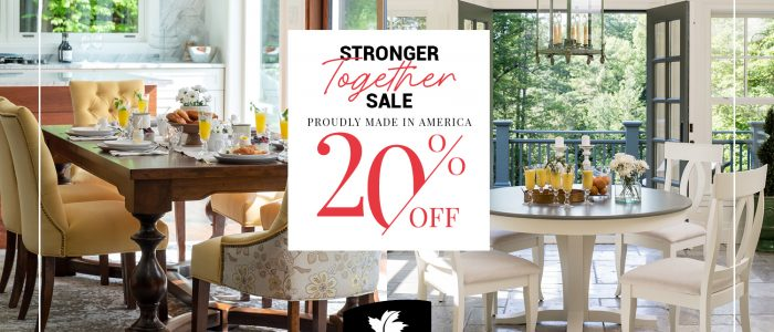 All Canadel Furniture products are 20% off! Sale runs from 8/29/2020 til 9/17/2020